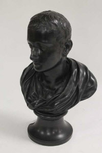 A nineteenth century Wedgwood bust depicting Horace, on socle base, height 37 cm.