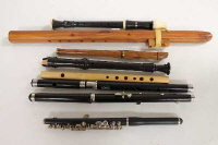 A Pearl Flute piccolo, together with seven recorders and other wind instruments. (8)