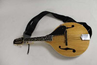 An eight string Savannah mandolin, cased.