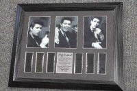 Two 35mm filmcel montages  - Cliff Richard, together with a commemorative tribute edition, all parts framed. (3)