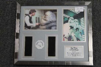 Three limited edition 35mm filmcel montages - Star wars, all parts framed. (3)