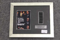 Four limited edition 35mm filmcel montages - The Godfather, Scarface and Goodfellas, all parts framed. (4)