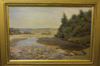 John William Gilroy : North Tyne, oil on canvas, 76 cm x 50 cm, signed, framed.