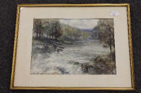 Victor Noble Rainbird : Tarset Northumberland, watercolour, 36 cm x 26 cm, signed, together with another watercolour depicting Jesmond Dene by the same artist, both parts framed. (2)