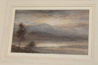 Edward Tucker Snr.: Windermere, watercolour, 27 cm x 16 cm, signed, framed.