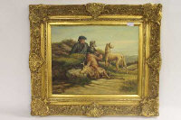William Hardie Sinclair : A hunter in the highlands, oil on canvas, 50 cm x 40 cm, signed, framed.
