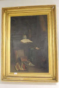 A. K. Blakeney :  Still life salon interior, oil on canvas, 49 cm x 75 cm, signed, framed.