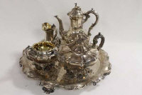 An early Victorian five piece silver tea service, Edward, John and William Barnard, 155 oz. (5)