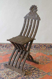 Moorish style occasional chair.