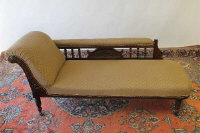A late Victorian chaise longue, length 168 cm.