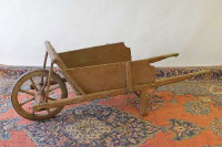 A nineteenth century wooden barrow, length 175 cm.