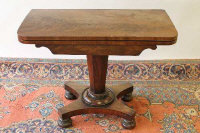 A William IV mahogany card table, width 90 cm.