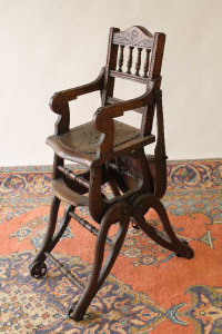 A late Victorian mahogany metamorphic child's chair.