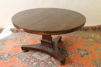 A William IV rosewood breakfast table, width 126 cm.