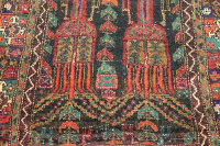 A fringed eastern wool carpet, 121 cm x 278 cm.
