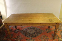 An early twentieth century pine farmhouse table, length 182 cm.