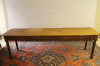 A Victorian pine long table, length 244cm.