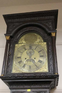 A nineteenth century carved oak longcased clock by William Greaves, Newcastle.