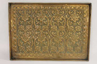 A Keswick School arts and crafts copper tray, width 51.5 cm.