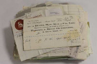 A fascinating collection of early twentieth century receipts from London outfitters and other establishments. (Q)