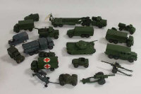 A Dinky Mighty Antar Tank Transporter, together with Centurian tank and seventeen other military vehicles. (19)