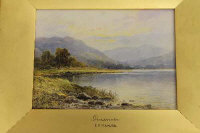 E.A Krause : Grasmere, watercolour, signed, 14 cm x 19 cm, in slip-frame.