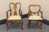 Two nineteenth century style miniature armchairs, height 50 cm. (2)