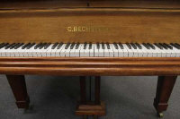 A C.Bechstein model 'A' mahogany baby/boudoir grand piano, length 180 cm together with adjustable stool. (2)