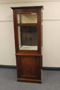 An Edwardian mahogany display cabinet, height 185 cm.