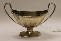 A silver twin handled sugar bowl, London 1793, 14 oz.