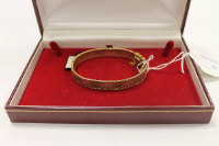 A 9ct three tone gold bracelet, 20.3g.