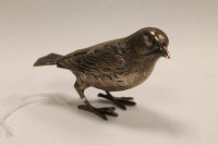 A silver finch, London 1977, height 6 cm, 124.4 g.