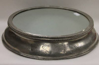 An early twentieth century silver plated wedding cake stand, width 51.5 cm.