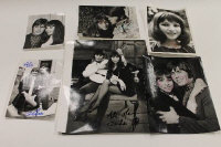 Esther and Abi Ofarim - eight signed  monochrome press photographs. (8)
