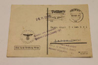 A period Reich Chancellery reply card to Ernst Schnabel.