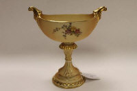 A Royal Worcester blush ivory gilded comport, shape 280, height 19.5 cm.