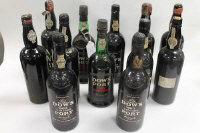 A collection of twelve bottles of vintage port - Dow's 1983,1967 reserve, Dalva 1963 and others. (12)