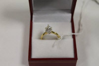 An 18ct gold marquise diamond ring, approximatley 1.5ct.