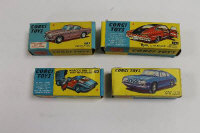 Four Corgi model vehicles - Marcos 1800 GT, Lancia Fulvia, Marlin Rambler and Volvo P1800, all boxed. (4)