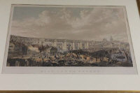 After John Wilson Carmichael : High Level Bridge, Newcastle Upon Tyne,  tinted lithograph by G. Hawkins, with hand colouring, published by Day and Haghe, 32 cm x 53 cm, framed.