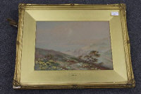 Herbert Harding Bingley :  On Dorset Downs, watercolour, signed, 25 cm x 36 cm, framed.