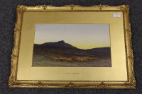 Charles Edward Brittan : A Scottish moorland, watercolour, signed, 23 cm x 38 cm, framed.