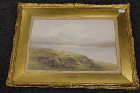 Charles Edward Brittan : Loch Laggan, watercolour, signed, 34 cm x 53 cm, framed.