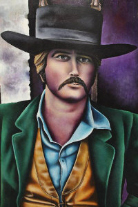 Eric Scott : Sundance Kid, acrylic on board, signed, dated 1969, 120 cm x 90 cm, framed.