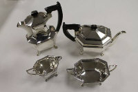 A four piece silver tea service, E.Viner, Sheffield 1945 - 1949, 49.5 oz. (4)