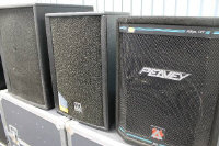 A Peavey HiSys 1XT speaker, together with an HK audio EPX 112A speaker and one other. (3)