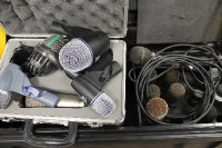 A collection of stage microphones by JTS, AKG, Sennheiser and others. (Q)