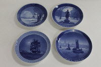 Four early twentieth century Royal Copenhagen blue and white plates - 1923, 1924, 1930 & 1932. (4)