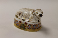 A Royal Crown Derby English bone china paperweight : Water Buffalo, height 12 cm, boxed.