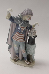 A Lladro china figure - Circus Magic, height 27 cm, boxed.
